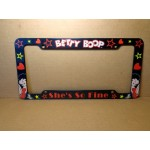 Betty Boop License Plate Frame Pvc She's So Fine Design.
